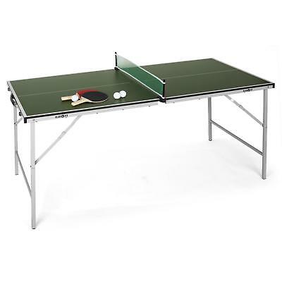 TABLE DE PING PONG PLIABLE 75x153CM + RAQUETTES & FILET KLARFIT TAFELTENNIS SET