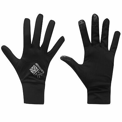 Karrimor Mens Liner Gloves Thermal Touch Screen Walking Sports Run Black A453