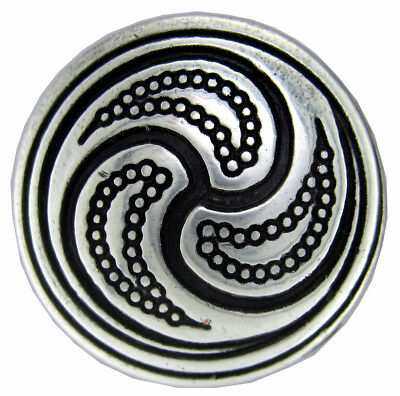 Antique Silver, Celtic Swirl Concho 1""
