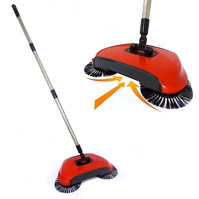 Automatic Spin Sweeper 3 in 1 Floor Sweeping Brush Broom, Duster & Dustpan M&W