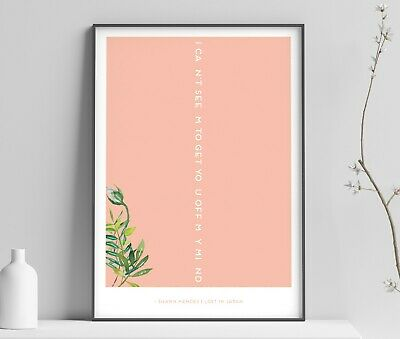 Shawn Mendes / Lost in Japan Lyrics INSPIRED WALL ART Print / Poster A4 A3