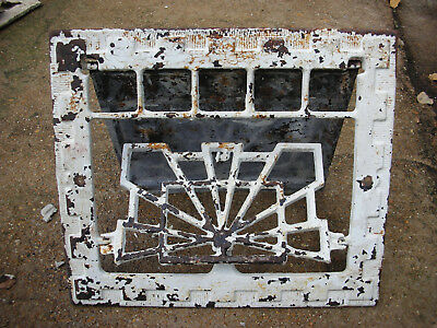 Ornate Vintage / Antique Cast Iron Heating Grate / Vent, adjustable wall mount