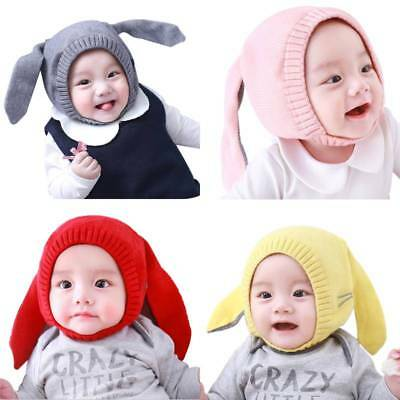 Baby Kids Infant Boy Girl Cute Rabbit Winter Warm Knitted Hat Beanie Earflap Cap