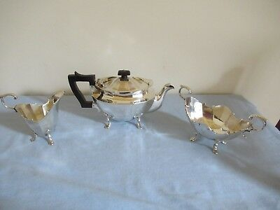 Sterling Silver Tea Service by Goldsmiths & Silversmiths Co