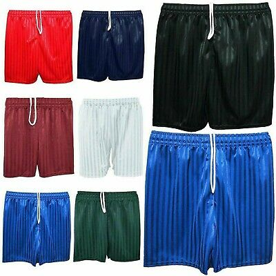 Girls Boys Shadow Stripe Shorts Unisex Elasticated Active Sports Gym Wear Pant