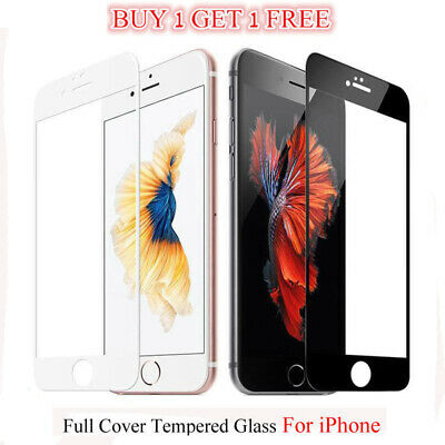 iPhone 6 7 S X Plus Full Screen 3D Curved Tempered Glass Screen Protector Clear