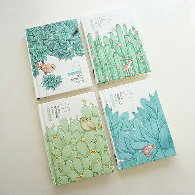 """Green World"" 1pc Beautiful Hard Cover Diary Notebook Journal Student Girl Gift"