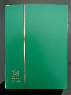 Large Wessex Green Stamp Stock Book / Album 32 Pages / 64 Sides Interleaved Vgc