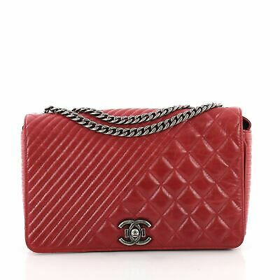 5425c09915e0 CHANEL COCO BOY Flap Bag Quilted Aged Calfskin Medium - $3,100.00 ...