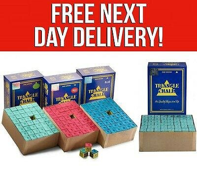 A Box Of 144 Pieces Green Triangle Cue Chalk Green Blue Red