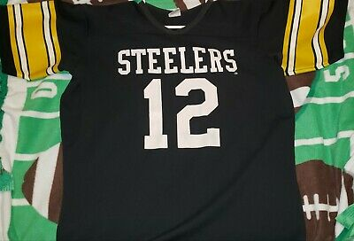 official photos 2bf0d e61af VINTAGE RAWLINGS PITTSBURGH STEELERS #12 TERRY BRADSHAW ...