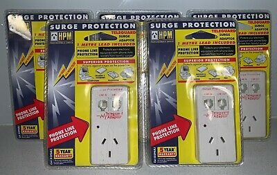 5x HPM Power and phone line surge protector - D2PARJ