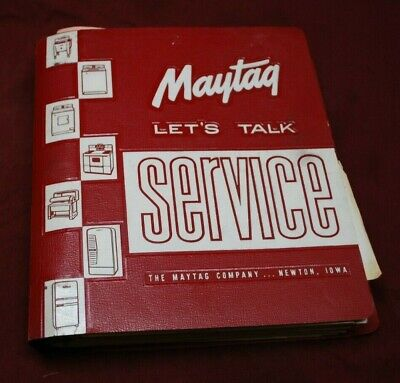 Antique Maytag Servic Binder Manual Book Washer Freezer Stove