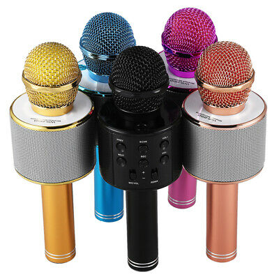 1X(Wireless Karaoke Microphone Portable Bluetooth mini home KTV for Music P K1D8
