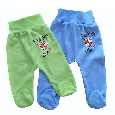 Baby Infant Boys *Trousers with feet *Pands 100%Cotton 0-36-9/9-12/12-18 m