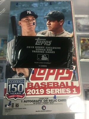 2019 Topps Series 1 Sealed Hobby Box 1 Silver Pack FREE SHIPPING