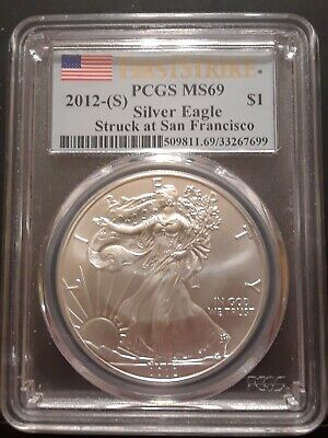2012-(S) $1 1oz American Silver Eagle MS69 First Strike PCGS