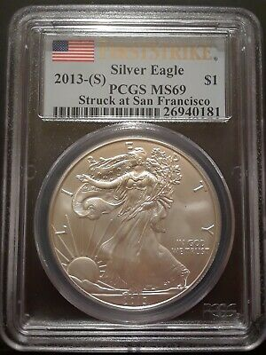 2013-(S) $1 1oz American Silver Eagle MS69 First Strike MS69