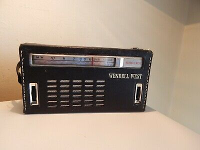 Vintage Wendell-West Eight (8) Transistor Radio....Model  CR-18.....