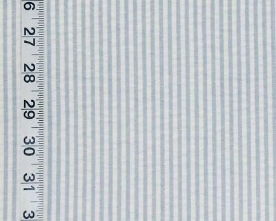 Blue and white seersucker fabric interior home decorating material BTY