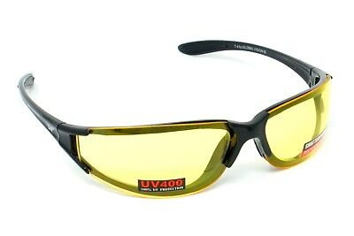 Yellow Tinted Sunglasses/Biker Glasses 4 Motorcycle Bobber or Cruiser Inc P&P