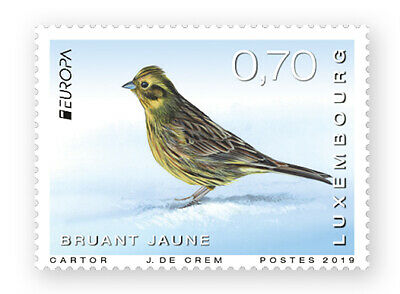 Luxemburg 2019 Cept Europa National Birds 2 Stamps Preorder 7-5-19