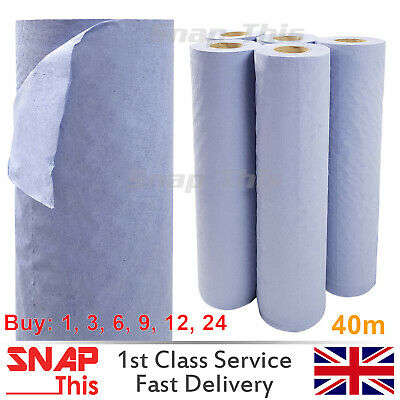 """Couch Rolls Blue 20"""" 40m Bed Hygiene Paper Massage Beauty Salon 2ply Medical Box"""