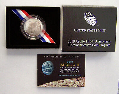 2019 Apollo 11 50th Anniversary Uncirculated Half Dollar