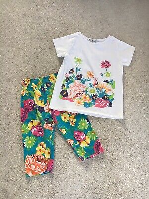 Vintage Top and Bottoms by E-I-E-I-O  2-Piece Outfit 1980's Girl Size 12