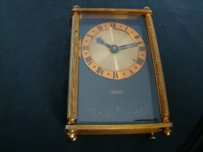 VINTAGE RARE JAEGER  LE COULTRE 8 DAYS  MUSICAL MISTERY ALARM DESK CLOCK. 50s