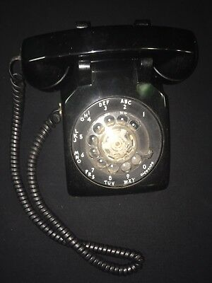 Vintage Black Western Electric Bell Systems Rotary Desk Phone Telephone