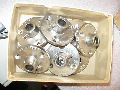 NEW Lot of 9  FISHER Lab BRAND Flexaframe Foot base Plate Flange 1/2""