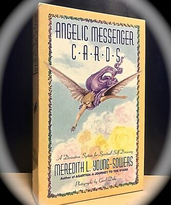 Angelic Messengers Hc Book & Cards Set ~ 1993 ~ New Age Tarot-Like Divination
