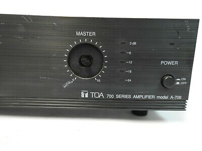 TOA 700 Series Amplifier A-706