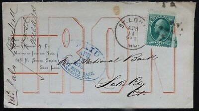 1878, LAKE CITY, COLORADO, First National Bank, from St. Louis, With LETTER