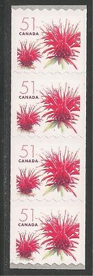 Canada #2128 (A887) VF MNH - 2005 51c Red Bergamot Flower  - Coil Stamps