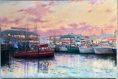 Thomas Kincade -  Fisherman's Wharf, San Francisco 1719/2750 COA