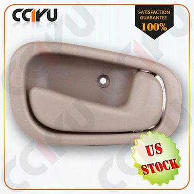 One piece Front/Rear Right Inside RH Door Handle Tan for 98-02 Corolla & Prizm