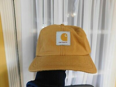 VINTAGE 90 S CARHARTT Canvas Hat Snapback - Black - Made in USA ... 508a06d8c26f