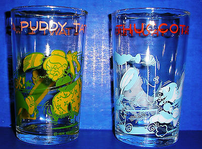 WARNER BROS. Jelly Glasses THUFFERING THUCCOTASH  PUDDY TAT Collectible Glasses