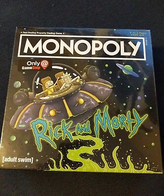Rick and Morty Monopoly Gamestop Exclusive Edition USAopoly New Sealed