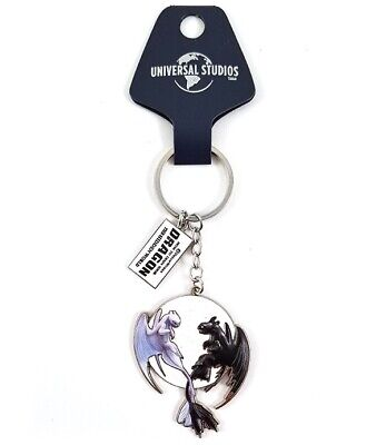 How to Train Your Dragon Universal Studios Parks Keychain Flying Moonlit Couple