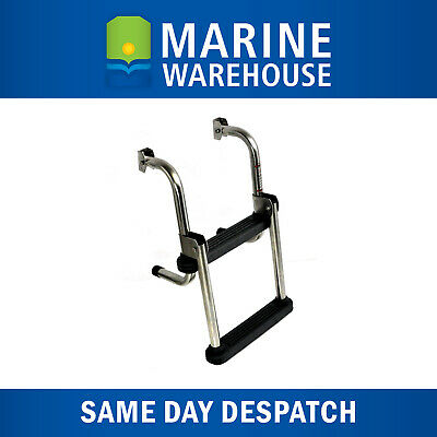 Transom Ladder - Fold-able Boat Ladder - Marine Grade Stainless Steel - 7822