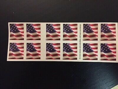 One Book of 20 U.S. Flag USPS First Class Forever Postage Stamps