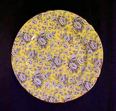 """Rare Shelley China Tapestry Rose Chintz 8"""" Luncheon Plate"""
