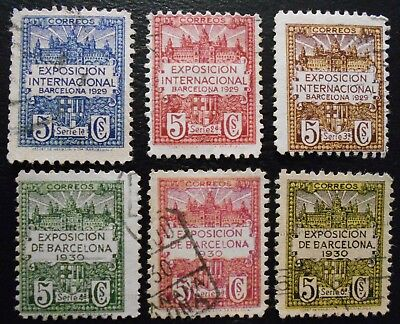 Spain Barcelone Exposition 1929 and 1930 Used, see description (Lot CYV)