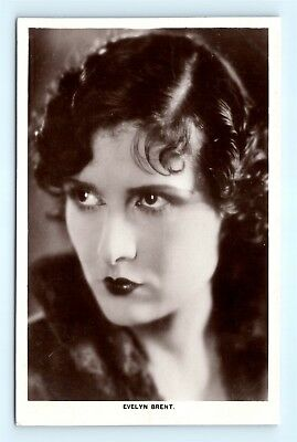 Postcard c1920s Real Photo RPPC Movie Star Actress Evelyn Brent H13