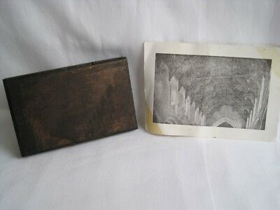 Vintage Bespoke Letterpress Wooden Printing Block of Churches Vaulted Ceiling