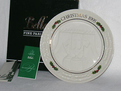 "Belleek ""three Kings"" 1995 Story Of The Nativity Annual Christmas Plate - Mib"