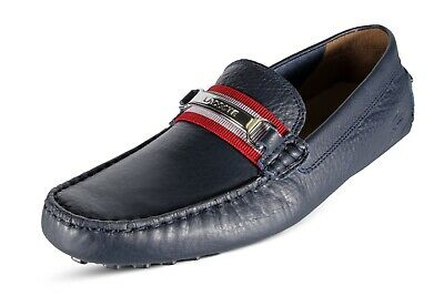 d5cfdea931e5e Lacoste Ansted 119 1 U CMA Men s Driving Leather Moccasins Navy  7-37CMA0072144